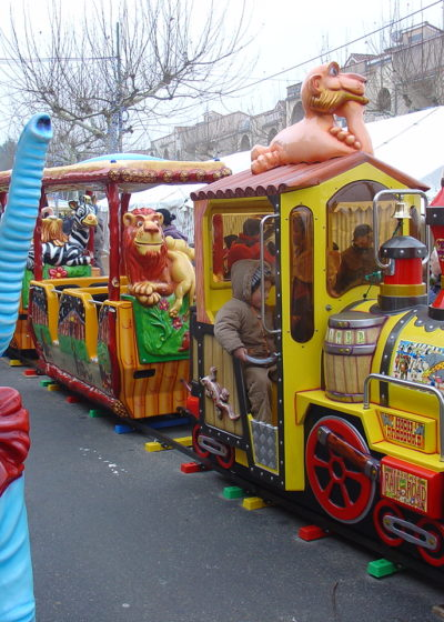 Petit train à l'occasion du marché de Noël
