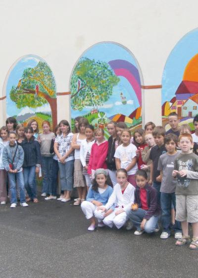 Fresque à l'école élémentaire