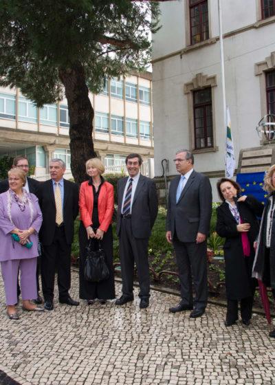 Réception devant la Mairie de Leiria