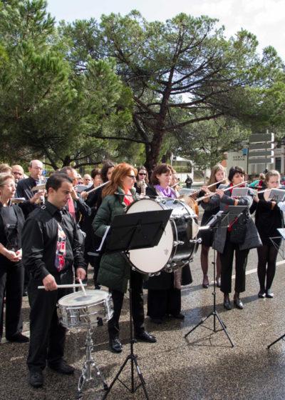 L'harmonie de Quint-Fonsegrives jouant les hymnes nationaux