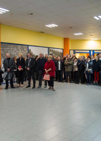 L'ensemble de la délégation au stade municipal de Leiria