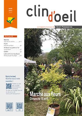 Couverture Clin d'oeil mars/avril 2021